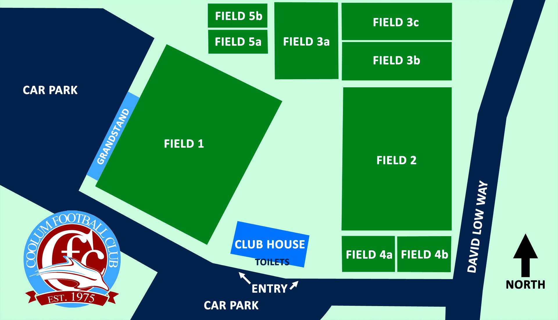 Coolum FC - Field Map